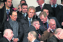 Rangers director Julian Woldhardt, Alistair Johnston, and Dave King during the Ladbrokes Premiership match between Hamilton and Rangers, at the FOY Stadium.