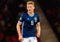 Scott McTominay in action for Scotland during a UEFA Euro 2020 qualifier between Scotland and Belgium, at Hampden Park, on September 9, 2019, in Glasgow, Scotland.