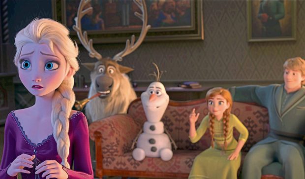 Beloved characters Elsa, Sven, Olaf, Anna and Kristoff in a scene from Disney's Frozen II, released this month
