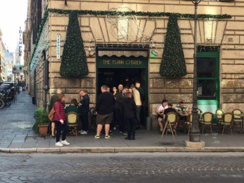 Two men were attacked outside the Flann O'Brien pub in Rome (Ronnie Esplin/PA)