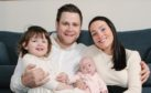 Matt and Louisa Williams with daughters Isabella and Francesca