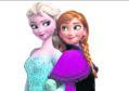 Elsa and Anna in Disney film, Frozen.