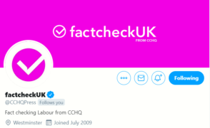 Twitter warns against attempts to mislead public after Tory account rebrands to 'factcheckUK' during leaders' debate