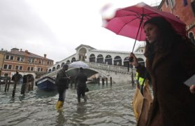 In pictures: Venice suffers worst flooding to hit lagoon city in more than 50 years
