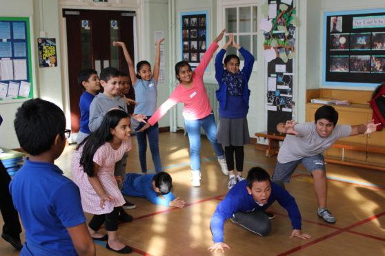 Pupils participate in the Disney in Schools programme.