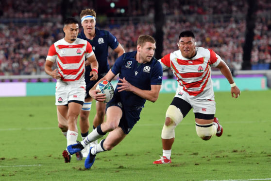 Scotland v Japan in the Rugby World Cup