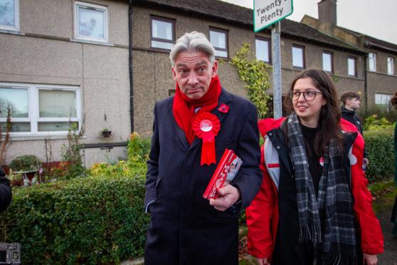 Scottish Labour leader Richard Leonard on the campaign trail.