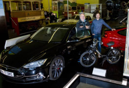 Tesla electric car among new exhibits in display examining James Watt's legacy in the age of energy efficiency