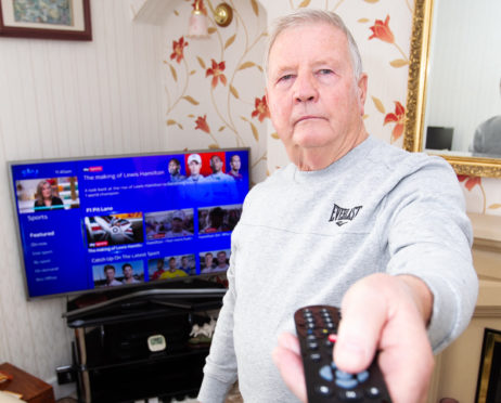 John Black, who had trouble with Sky, after his wife recently died, where they were still taking money from his account, after he cancelled it.