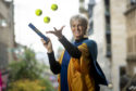 Judy Murray after becoming an honorary graduate of the Open University