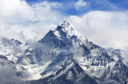 Ama Dablam Peak - view from Cho La pass, Sagarmatha National park, Everest region, Nepal. Ama Dablam (6858 m) is one of the most spectacular mountains in the world.