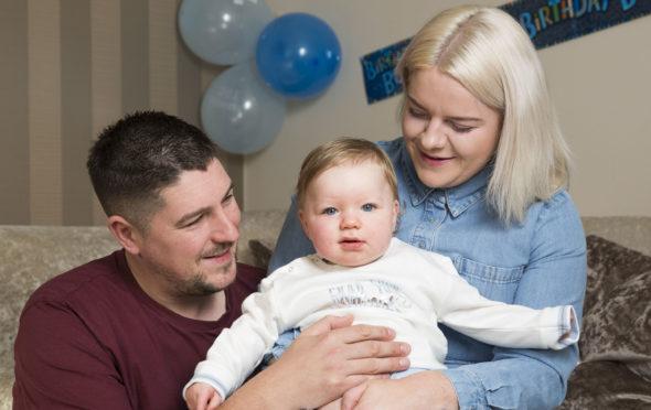 Siobhan Heanue and Blair Edington with their son Noah