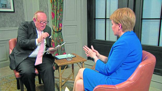 Nicola Sturgeon is interviewed by Andrew Neil.