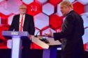 Jeremy Corbyn and Boris Johnson in a BBC debate