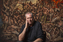 Artist Peter Howson unveils new painting in Glasgow museum to commemorate 25th anniversary of Srebrenica massacre