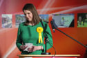 Lib Dem leader Jo Swinson reacts as she loses her East Dumbartonshire seat