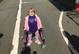 """Everything you said she couldn't do, she can:"" Three-year-old with spina bifida defies doctors to walk 5km across Forth Road Bridge"