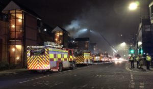 VIDEO: Firefighters tackle blaze in Glasgow city centre riverside flats