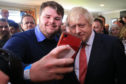 Boris Johnson poses for selfies in County Durham after his election win