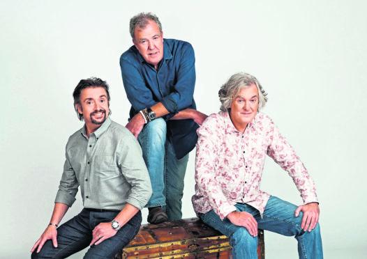 The Grand Tour presents: Seamen. Pictured: (L-R) Richard Hammond, Jeremy Clarkson, James May.