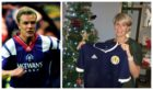 David Hagen's sister, Kirstin Horner, shows off the signed Scotland top that will now take its place in his hospice room alongside the others from his club days, including a spell at Rangers