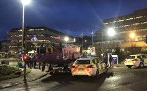 Extinction Rebellion Scotland activists blockade Aberdeen's Shell headquarters
