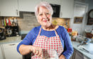 Helen Welsh, whose shares her memorable meals in A Life In Mouthfuls, at her home in Newburgh, Fife