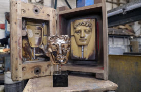 In pictures: London foundry casts the famous Bafta masks ahead of awards ceremony