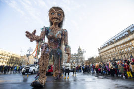 In pictures: Giant puppet Storm parades through Glasgow as part of Celtic Connections
