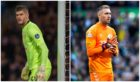 Celtic's Fraser Forster (left) and Rangers' Allan McGregor