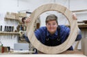 Fiona Gilfillan, a former RBS worker who now is a furniture maker